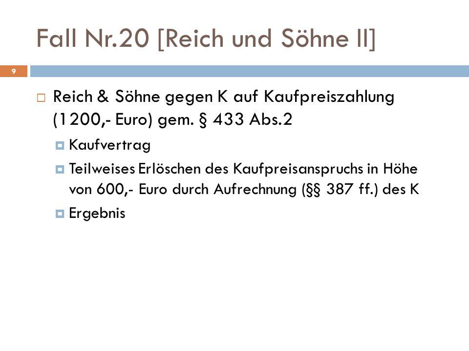 Fall Nr.20 [Reich und Söhne II]